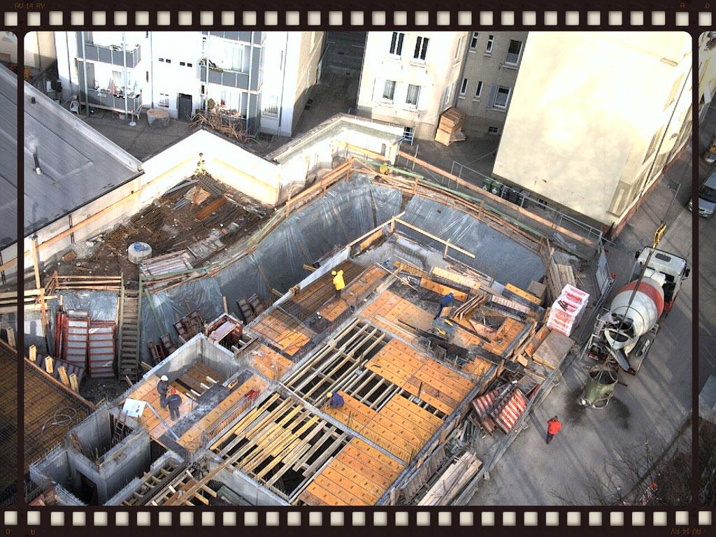 Webcambild einer Baustelle